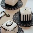 Black and white mini cakes, mini cakes London
