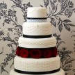 Black and White wedding cakes, Gothic wedding cakes