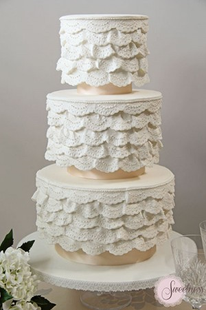 Lace Wedding cake, Wedding Cake Company London