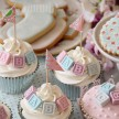 Alphabet block baby shower cupcakes London