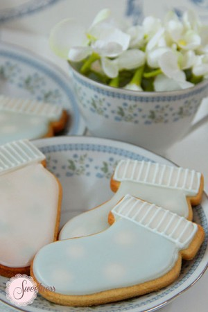 Baby Bootie cookies, Baby shower cookies London