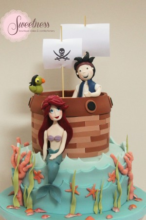 Pirate and Mermaid Cake