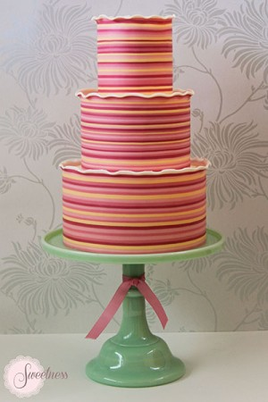 Striped Celebration Cake