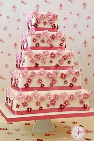 Hydrangea Wedding Cake London