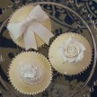 Ivory and White cupcakes
