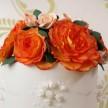 Autumn Wedding cake, Orange and White wedding cakes
